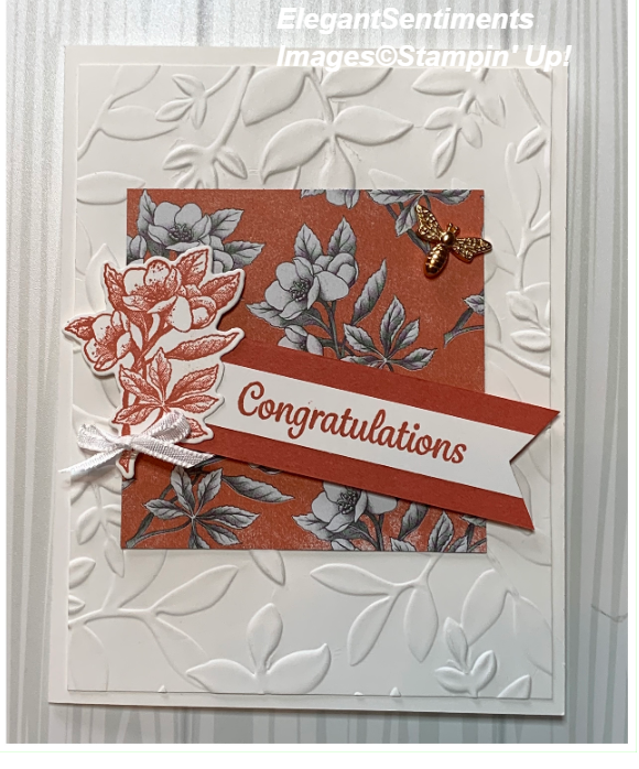 Congratulations card made with Stampin Up products
