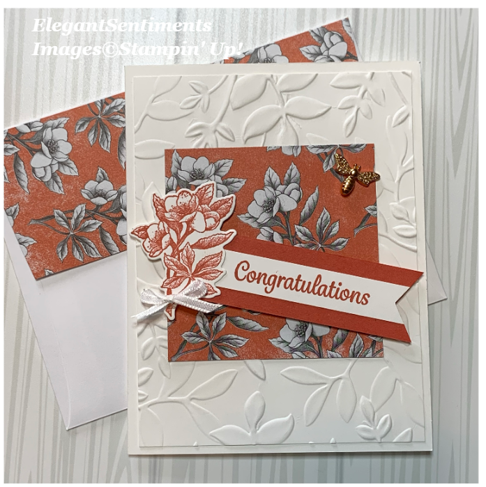 Congratulations card and envelope made with Stampin Up Products