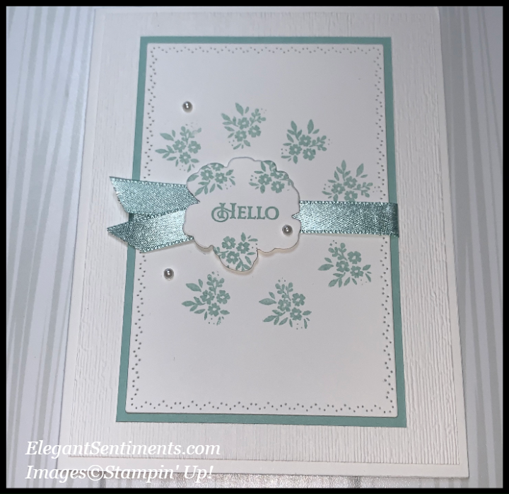 A greeting card made with Stampin up products