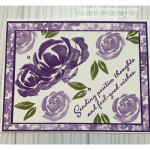 Floral friendship card made with Stampin