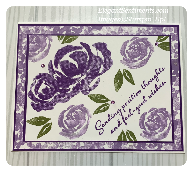 Floral friendship card made with Stampin' Up! products