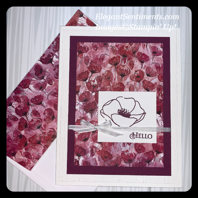 Floral greeting card featuring Stampin' Up! products