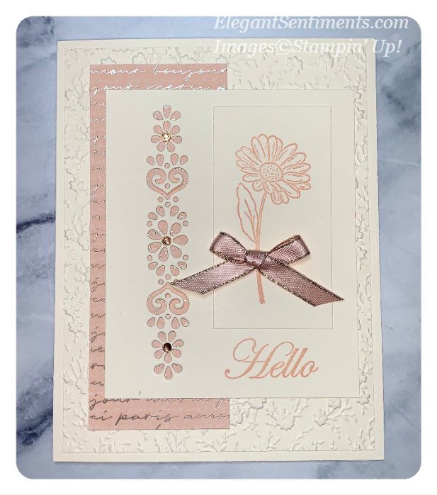 A hello greeting card made with Stampin' Up! products
