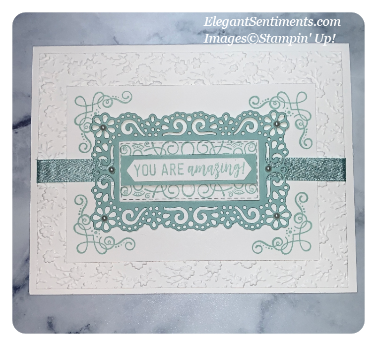 A greeting card made with Stampin' Up! products