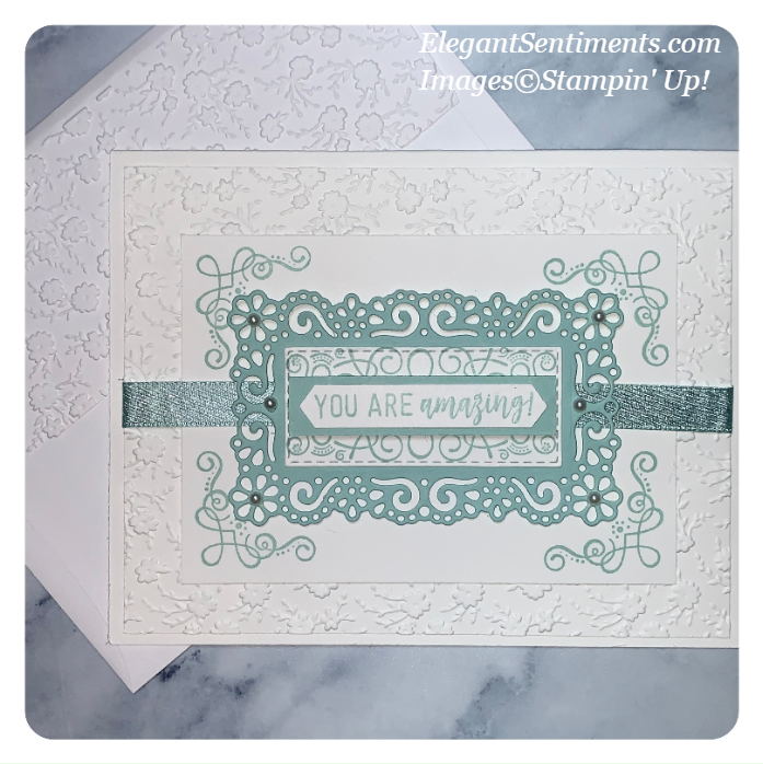 Greeting card with envelope made with Stampin' Up! products