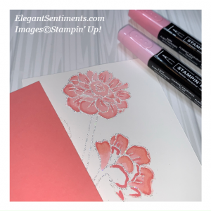 Coloring sample featuring Stampin' Up! products