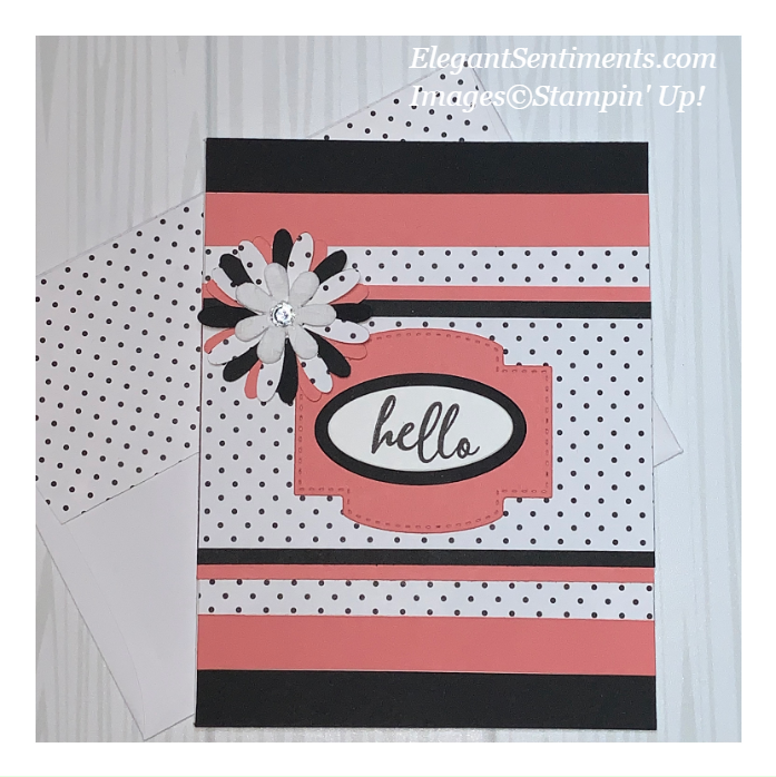 A Hello greeting card made with Stampin' Up products