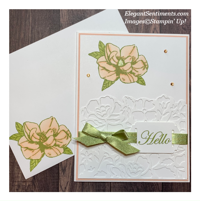 A Floral greeting card with envelope made with Stampin' Up! products