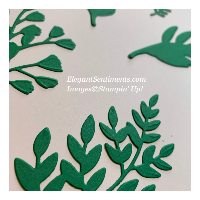 Close up of die cuts from the Forever Flourishing die set from Stampin' Up!