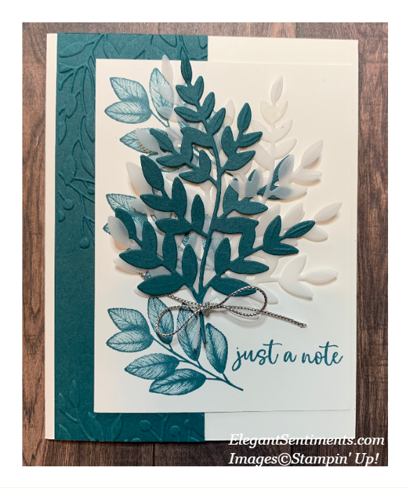 Just a Note greeting card featuring Stampin' Up! products