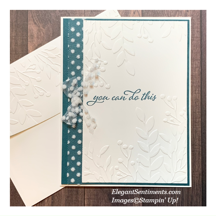 Greeting Card and envelope made with Stampin' Up!