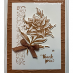 Thank you card featuring Flowering Blooms by Stampin
