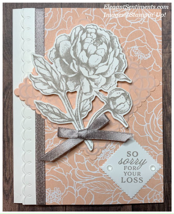 Sympathy card made with Stampin' Up! products