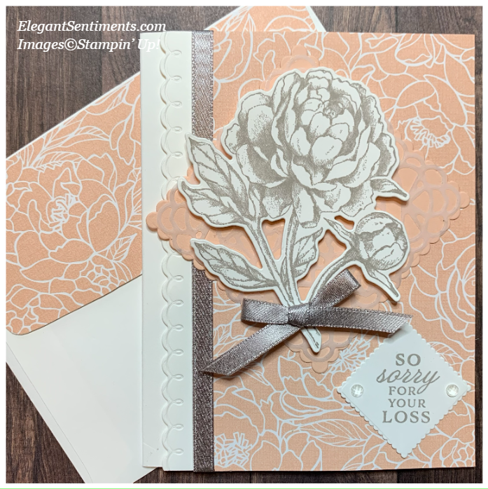 Sympathy Card and Envelope made with Stampin' Up! products
