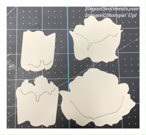 Die cut shapes from the Peony die set by Stampin' Up!