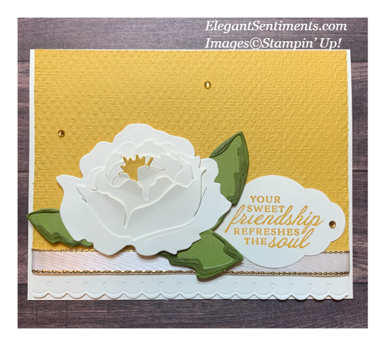 Friendship card made with Stampin' Up! products