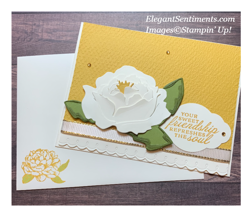 Friendship card and matching envelope made with Stampin' Up! products.
