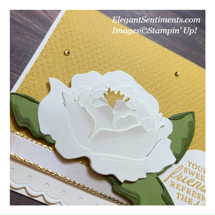 Close up of a friendship card made with Stampin' Up! products