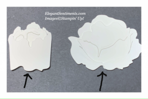 Die cut shapes from Peony dies by Stampin' Up!