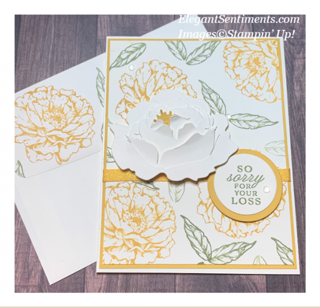 Close up and sympathy card with envelope made with Stampin' Up! products