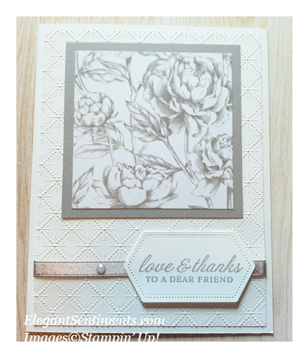 Thank you card featuring Stampin' Up! products