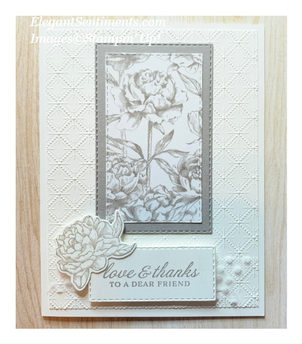 Thank You card made with products from Stampin' Up!