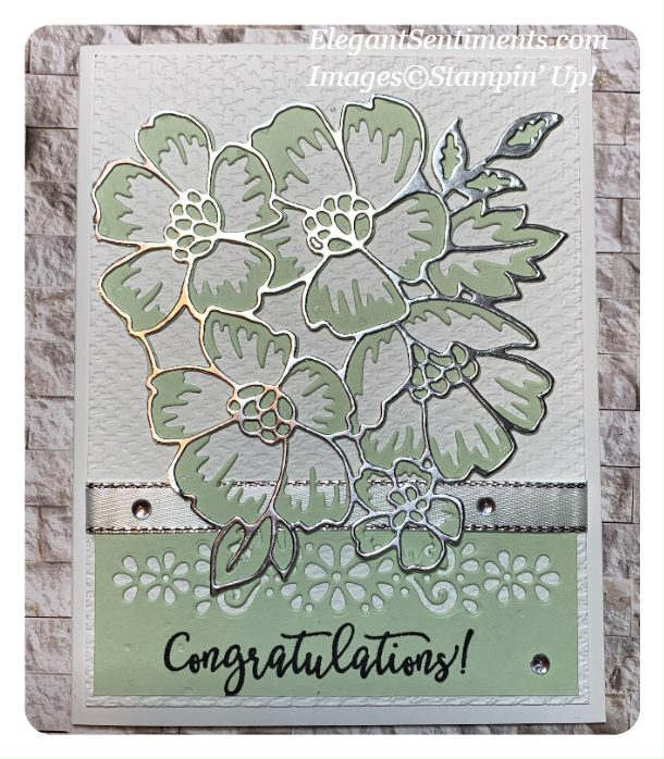 Congratulations card made with Stampin' Up! products