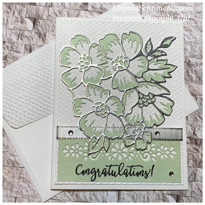 Congratulations card and envelope made with Stampin' Up! products