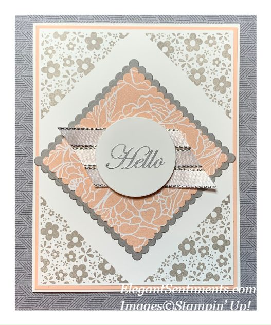 Hello greeting card made with Stampin' Up! cards