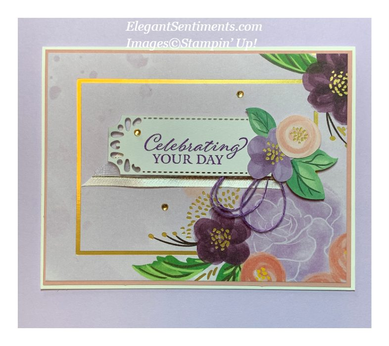 Floral celebration greeting card make with Stampin' Up! productsd