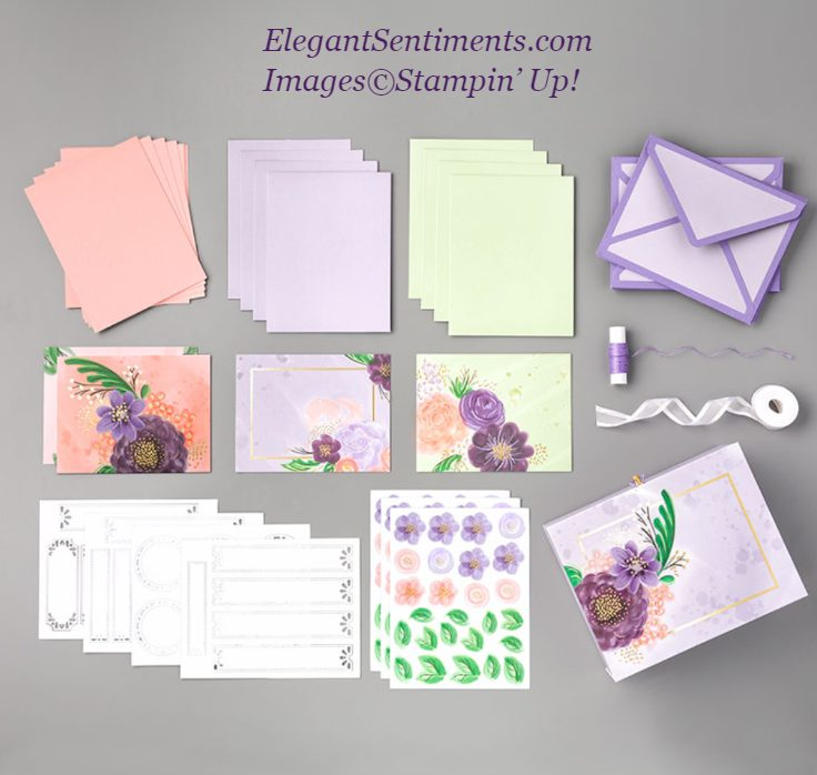 Gorgeous Posies project kit contents from Stampin' Up!