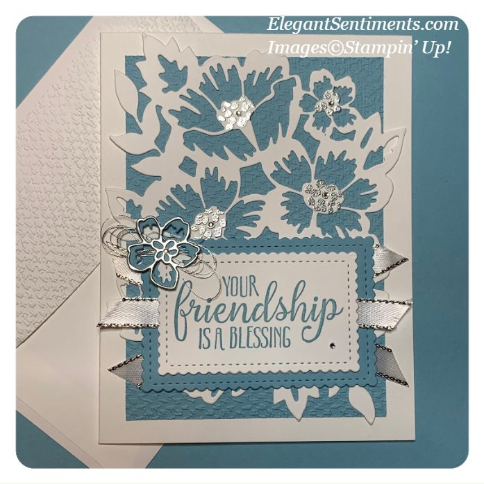 Friendship greeting card and envelope made with Stampin' Up! products