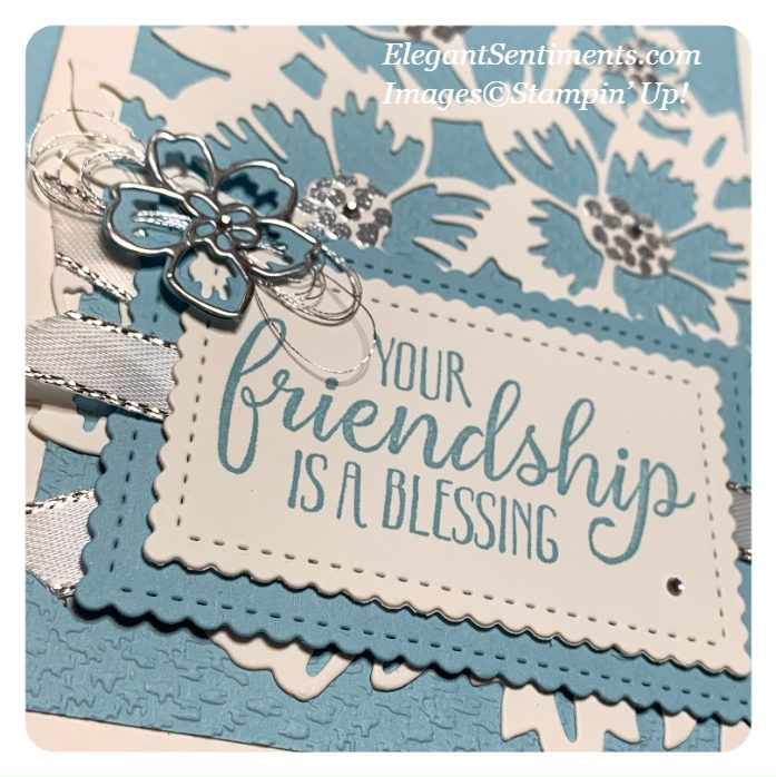 Close up look at a Friendship greeting card made with Stampin' Up! products